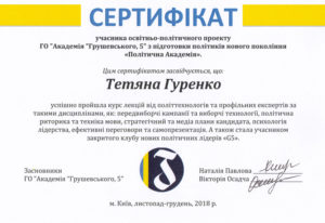 Гуренко Тетяна, Gurenko Tetiana, Гуренко Татьяна